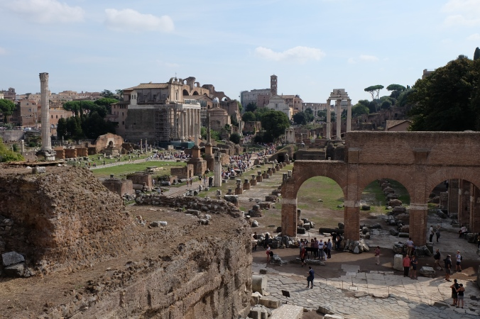 Overlooking Roman Forum