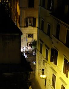 Looking down on Via del Boschetto