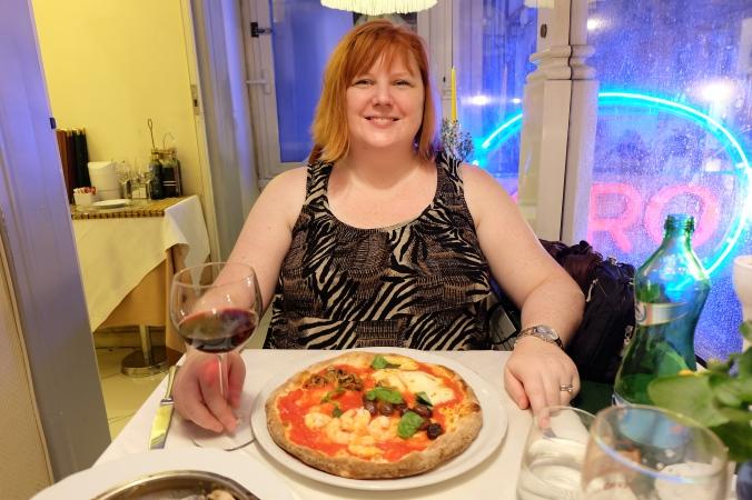 Gluten free pizza at Ciro a Santa Brigida