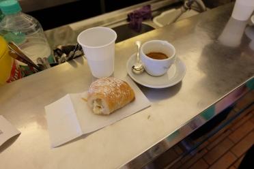 Sfogliatella and espresso