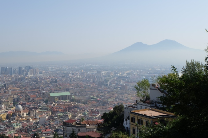Looking out to Mount Vesuvius