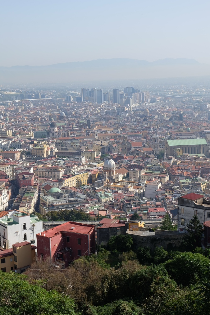 Looking out over Naples