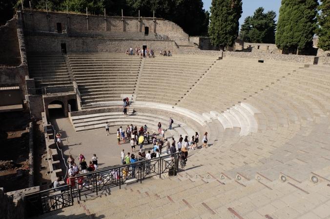 Large theatre at Pompeii