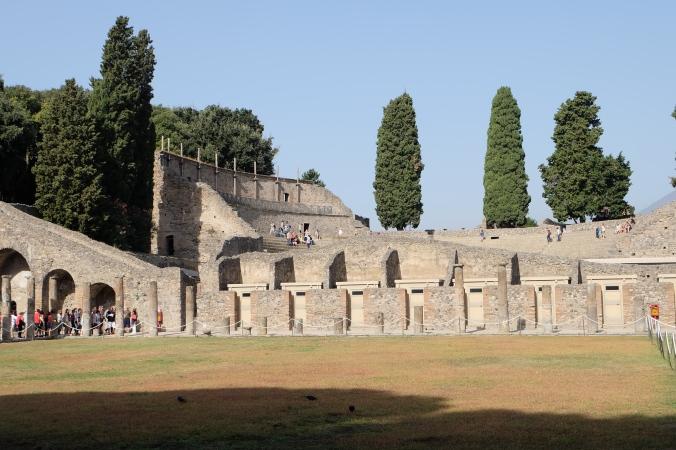 From the gladiator barracks in Pompeii