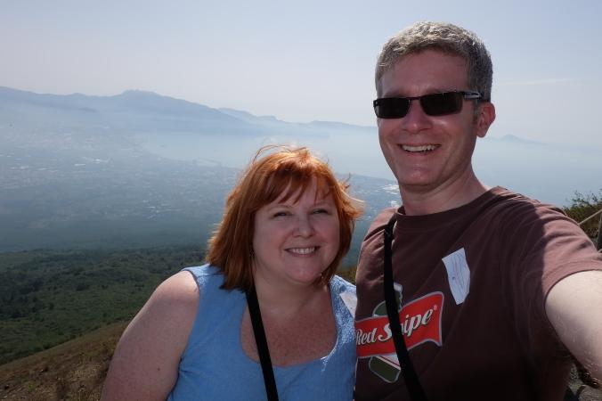 Us on top of Mount Vesuvius