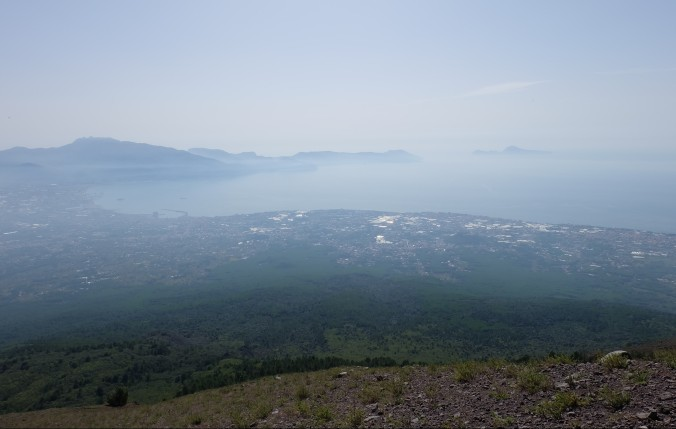 Looking out over the Bay of Naples