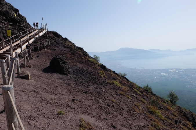 On top of Mount Vesuvius