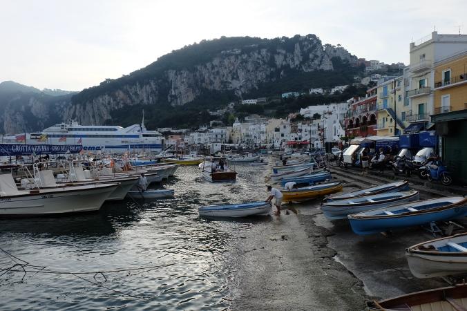 Arriving in Capri, Marina Grande