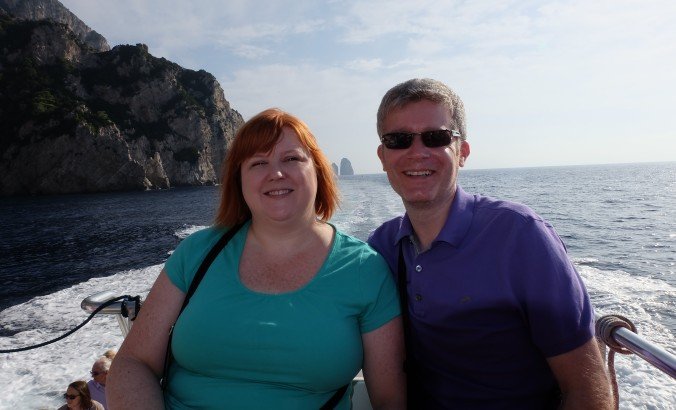 On the boat touring the isle of Capri