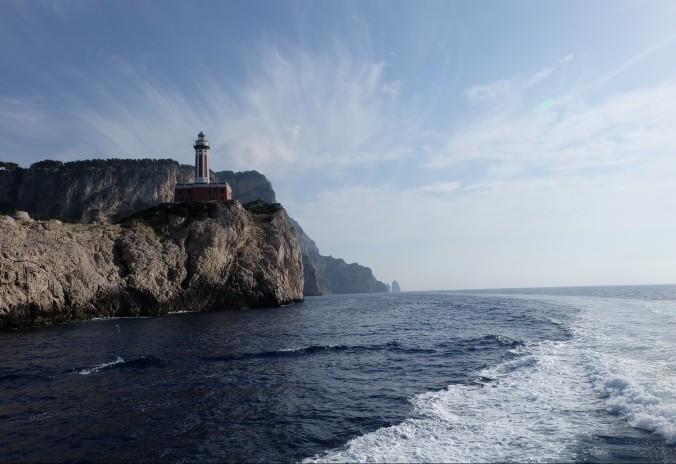 Punta Carena lighthouse on the isle of Capri
