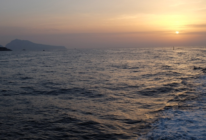 Sunset into the Tyrrhenian Sea