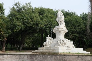 Monuments in Villa Borghese