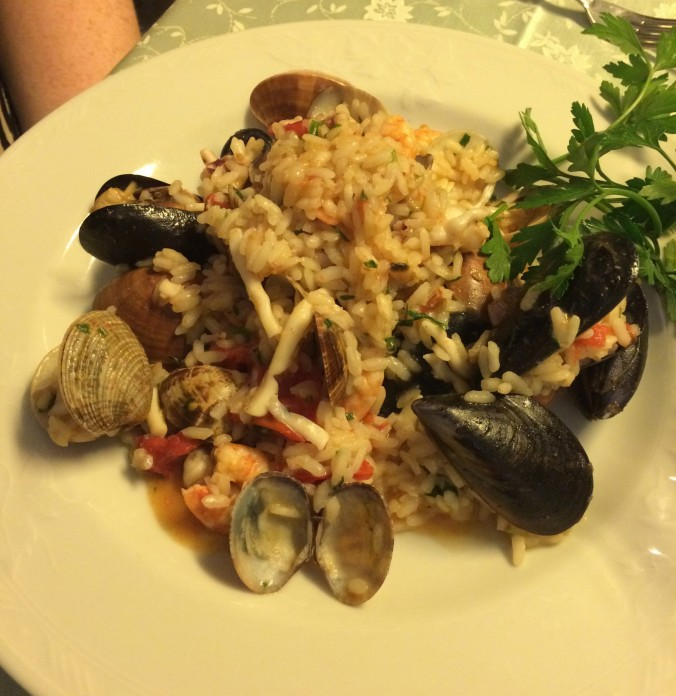 Seafood risotto at La Fenice in Sorrento