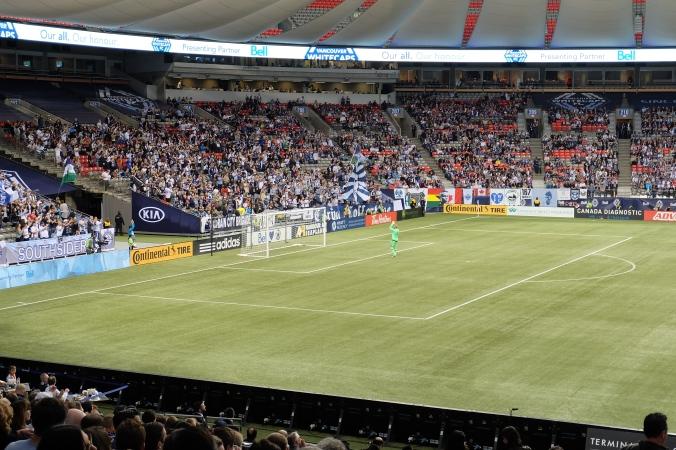 Goalkeeper saluting the fans