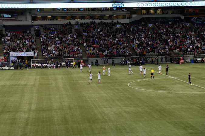 Celebrating the Whitecaps FC goal