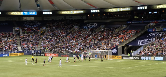 Action at Whitecaps FC game