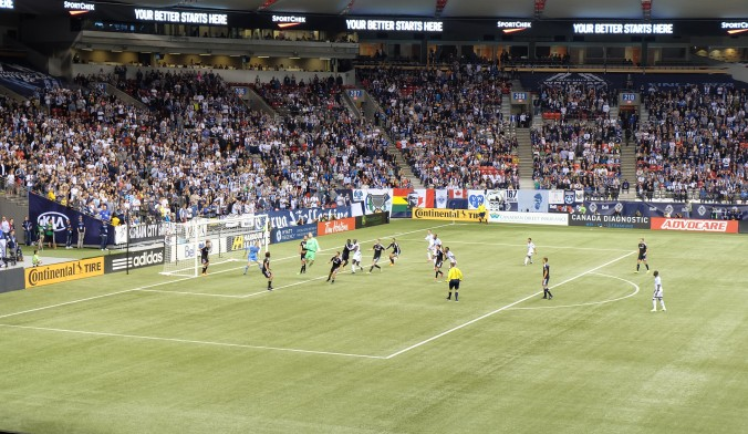 Last attempt to tie game by Whitecaps FC