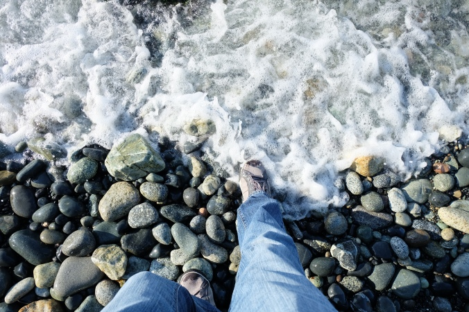 Dipping my foot in the Pacific