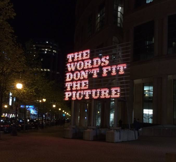 The Words Don't Fit the Picture by Ron Terada