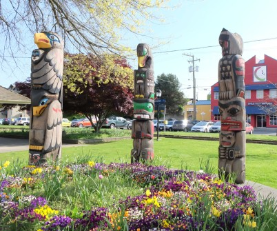Totems in Duncan, BC