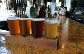 First beer flight at the Alibi