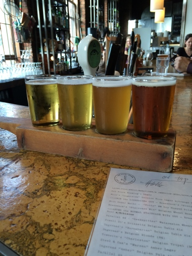 Second beer flight at the Alibi