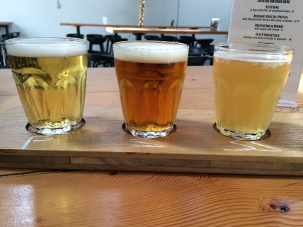 Main Street Brewing beer taster