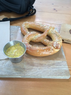 Pretzel at Main Street Brewing