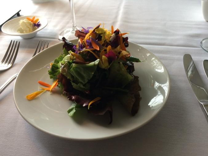 Salad at Sooke Harbour House