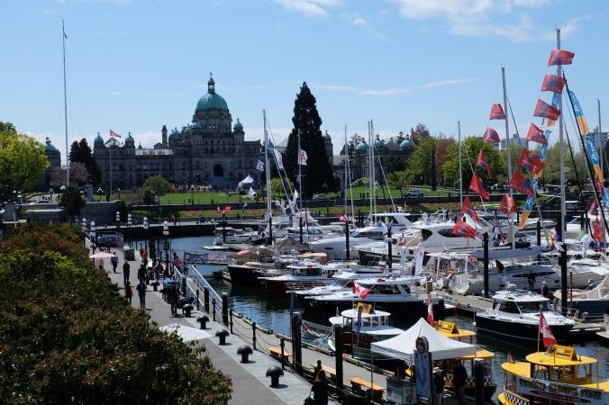 Inner harbour and BC Legislature