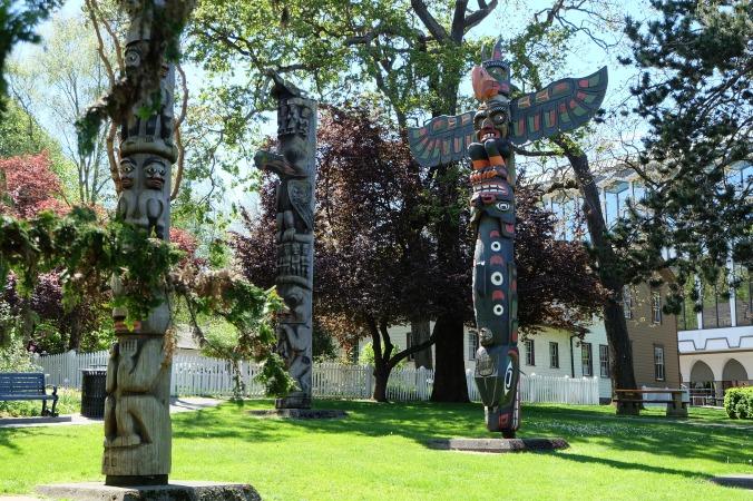 Totem poles in Thunderbird Park