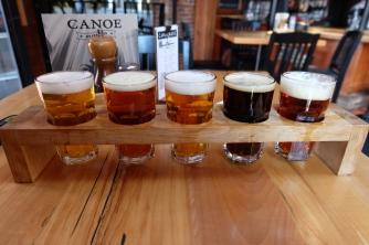 Craft beer sampling in Victoria
