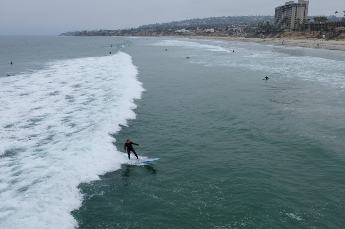 Surfing at Pacific Beach