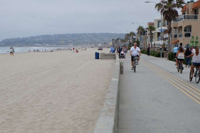 Boardwalk along Pacific Beach