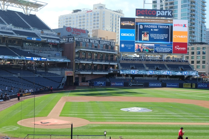 Petco Park from behind home plate