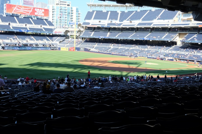 Petco from 3rd baseline seats