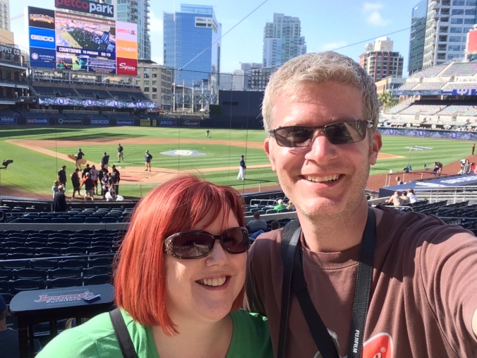 Me and my wife at the Padres game