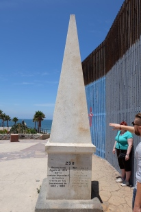 Official border marker between the USA and Mexico