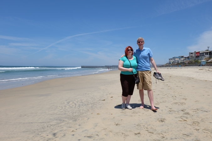 Us on the beach in Tijuana