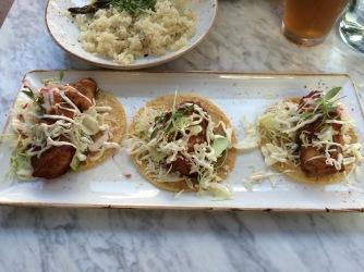 Baja tacos at Puesto