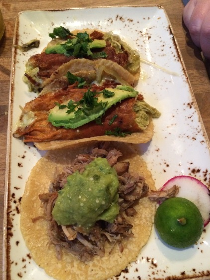 Two carnitas and a chicken verde