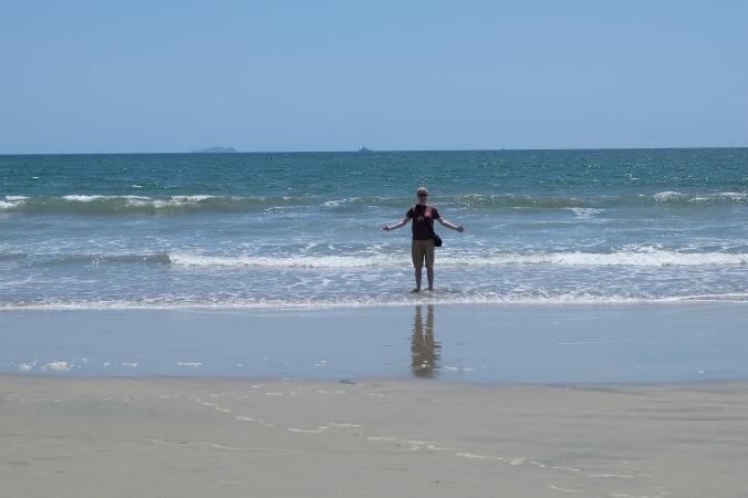 Me wading into the Pacific at Coronado beach
