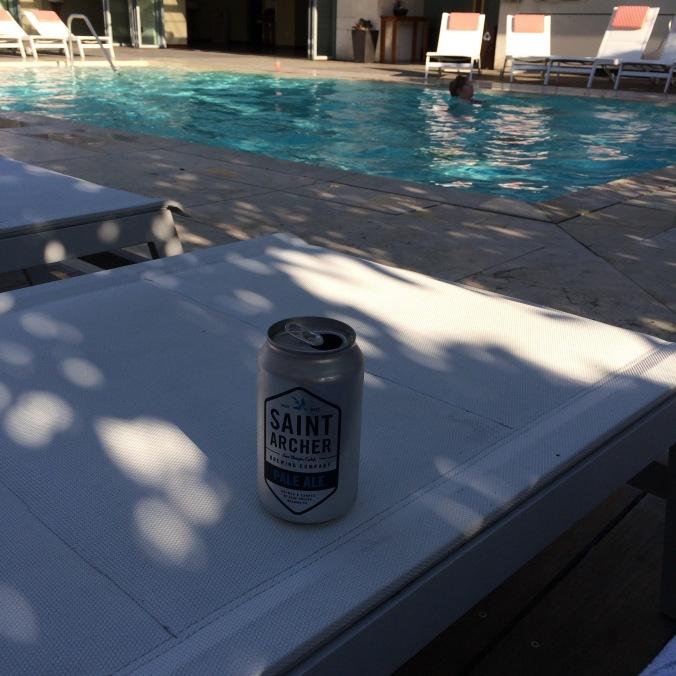 Poolside craft beer in San Diego