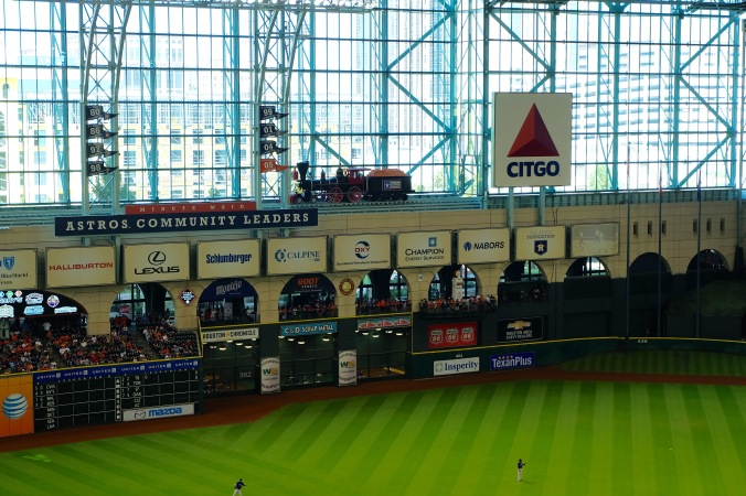 Minute Maid Park train