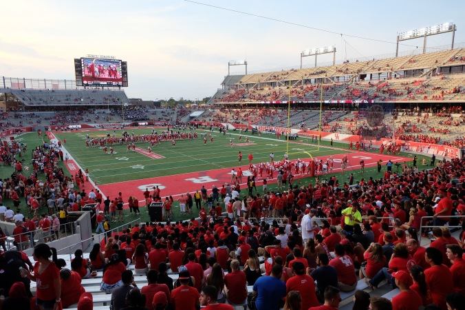 Student section at UH stadium