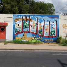 Deep in the heart of texas bluenose traveler for Austin postcard mural