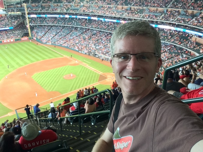 Me in the upper deck at Minute Maid Park
