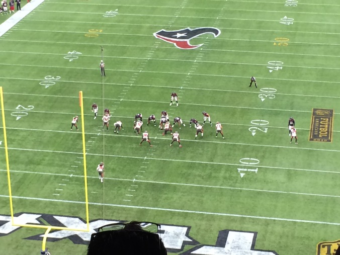 Texans driving for a TD