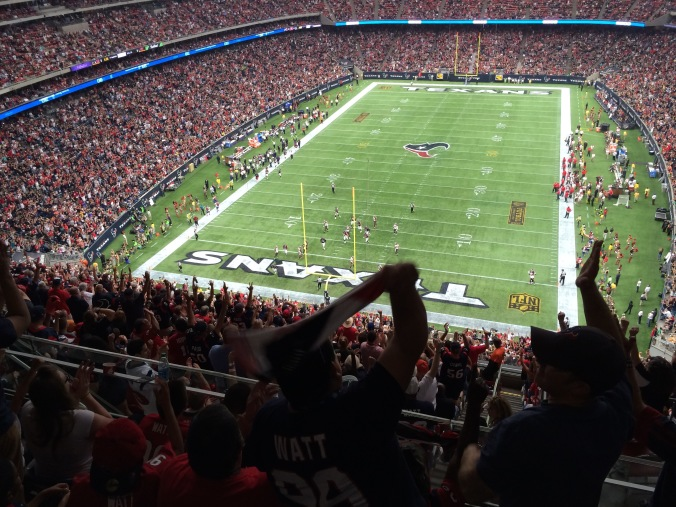Celebrating a Texans TD