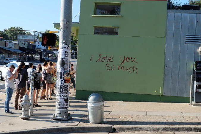"""I love you so much"" at Jo's"